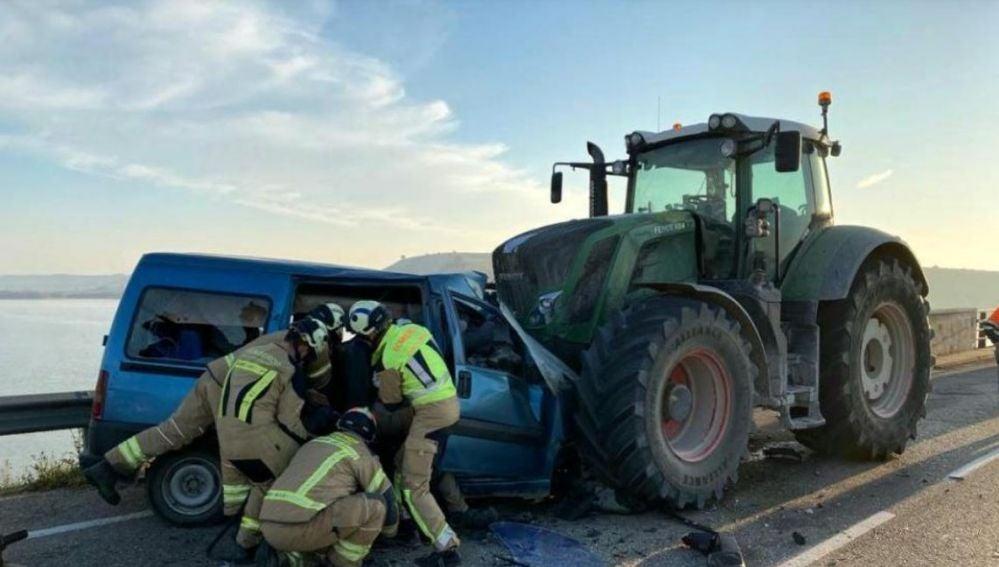 Accidente en Caspe, Zaragoza