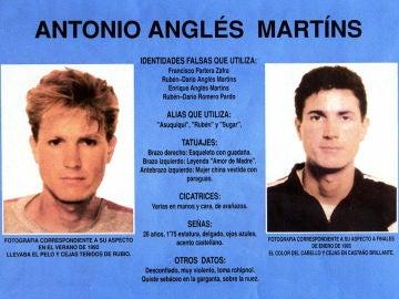 Ficha policial Antonio Anglés