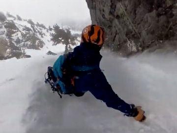 Alex Gavic, en el momento del descenso en Utah