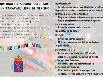 Recomendaciones del Ayuntamiento de Lora del Río para Carnaval