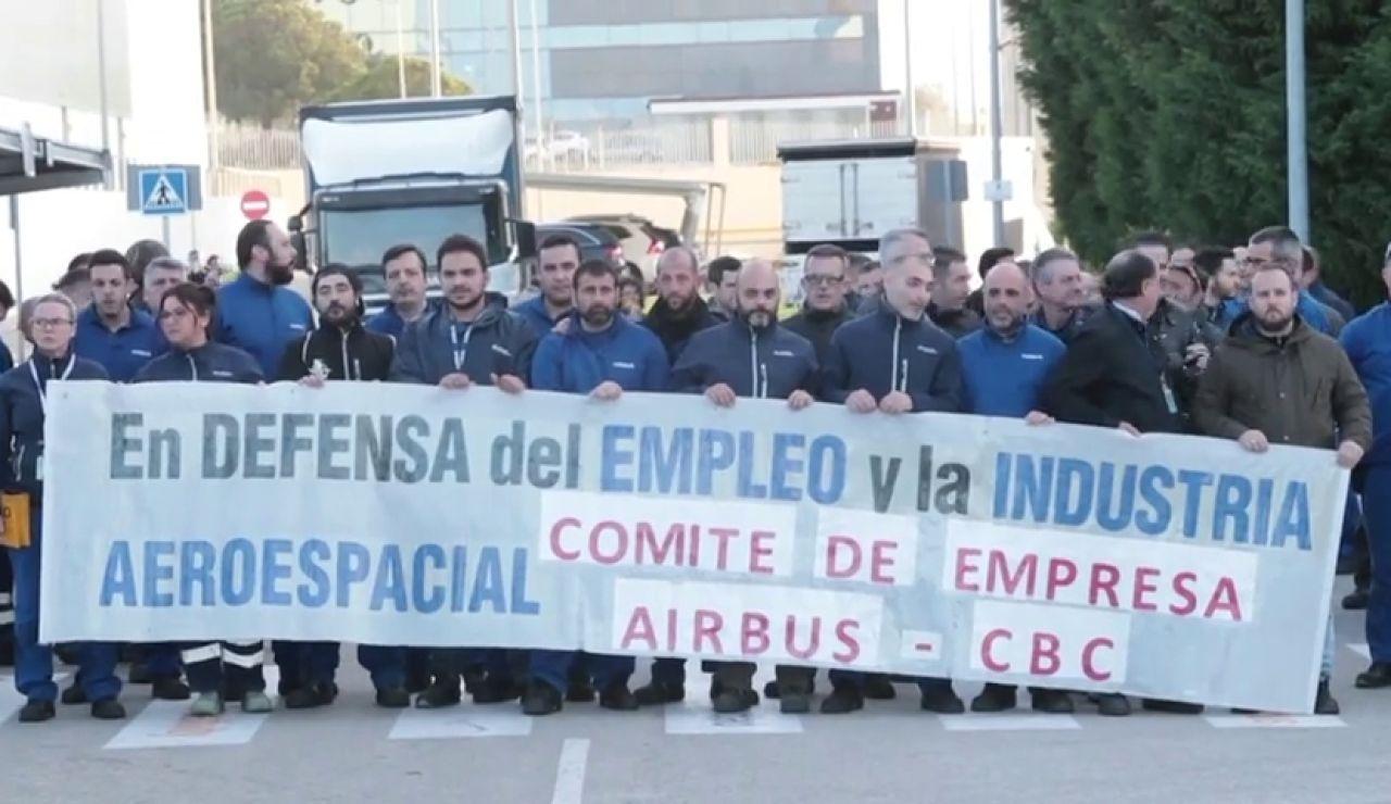 Los trabajadores de Airbus en España se movilizan contra el recorte de 630 empleos en las plantas de Getafe, Sevilla,