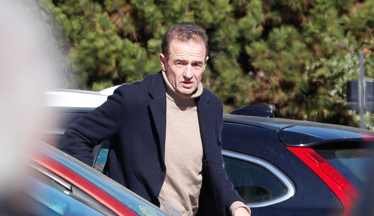 Alessandro Lequio, fotografiado llegando al hospital