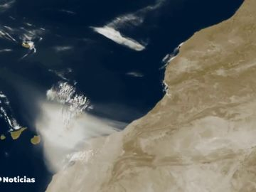 La espectacular imagen de la calima de Canarias captada desde el espacio