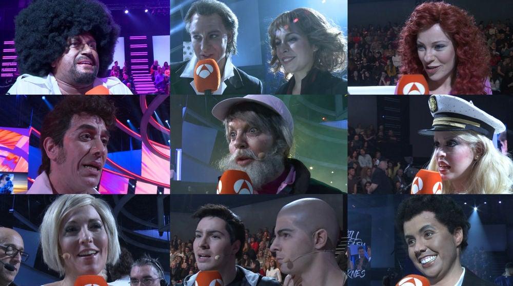 Explosión de emociones entre los concursantes tras actuar en séptima gala de 'Tu cara me suena'