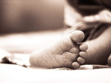 Pie de un bebé recién nacido