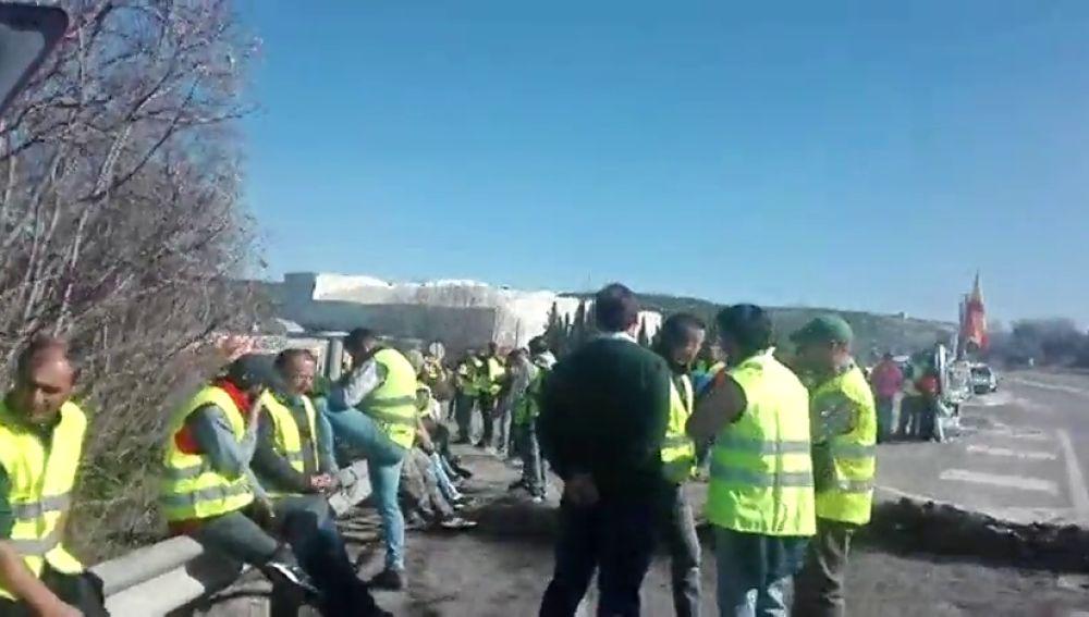 Comienzan a llegar las primeras multas de tráfico por las protestas de los olivareros en las autovías de Jaén