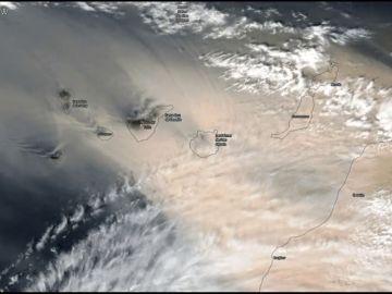 La calima marca en Canarias un récord mundial de contaminación, así captó la NASA la entrada del polvo en suspensión