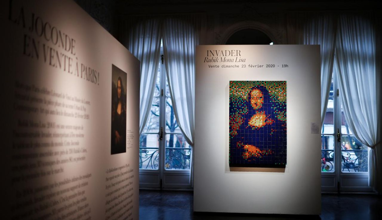 La Mona Lisa de Rubik se vende por 480.000