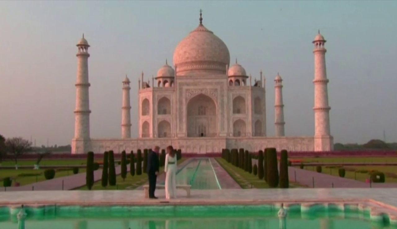 Espectaculares imágenes de la visita de Donald Trump y Melania al Taj Mahal