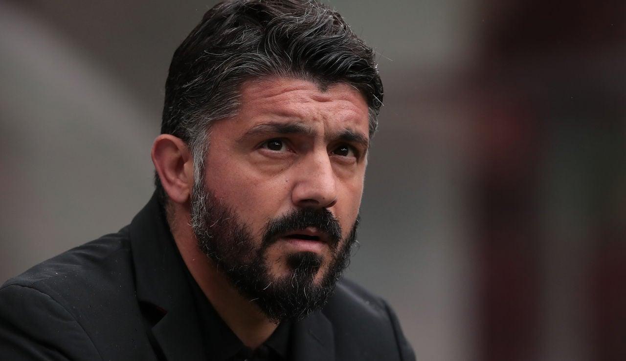 Gennaro Gattuso como técnico del Nápoles
