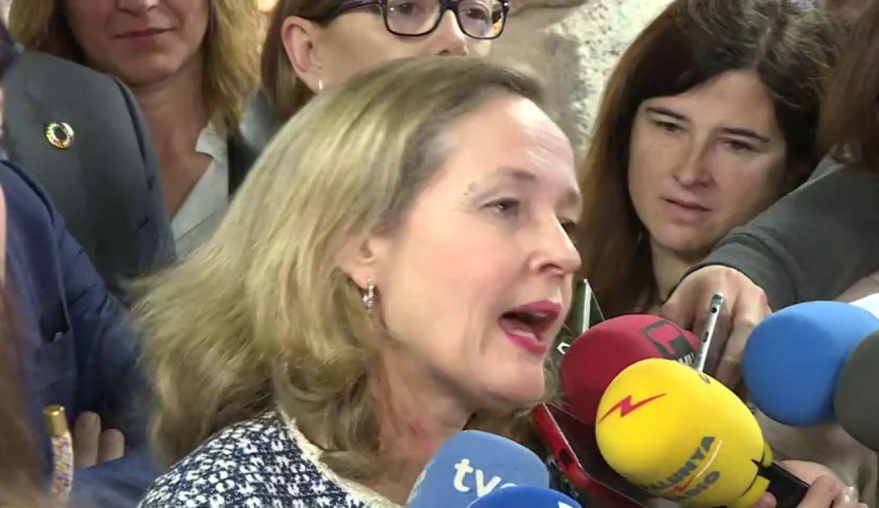 Nadia Calviño pide calma ante la expansión del coronavirus y destaca el sistema de salud público español