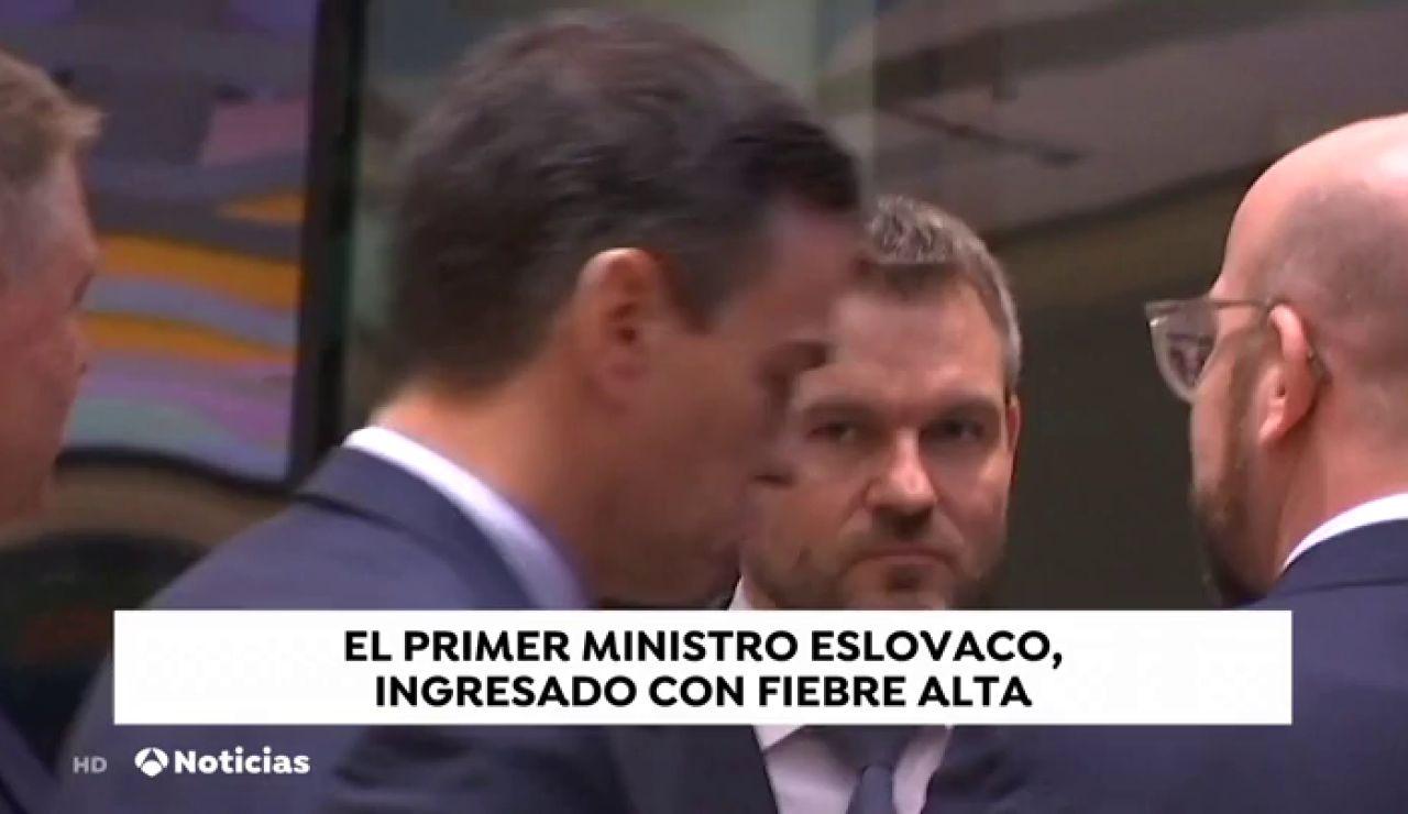 El primer ministro eslovaco, ingresado con fiebre alta
