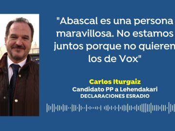 """Carlos Iturgaiz pide """"aunar fuerzas"""" con Vox"""