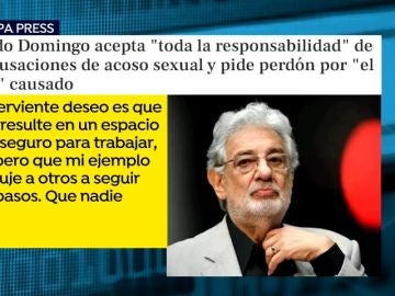 Comunicado Plácido Domingo