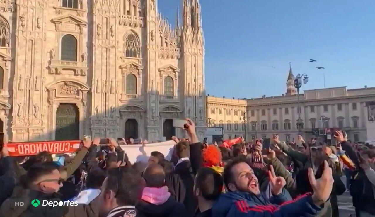 Deportes Antena 3 (25-02-20) Varios aficionados del Valencia que estuvieron en Milán dicen tener síntomas de coronavirus