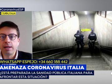 """Un periodista de 'La Stampa', en Turín: """"Por la calle no hay nada increíble que contar, la noticia está en los hospitales"""""""