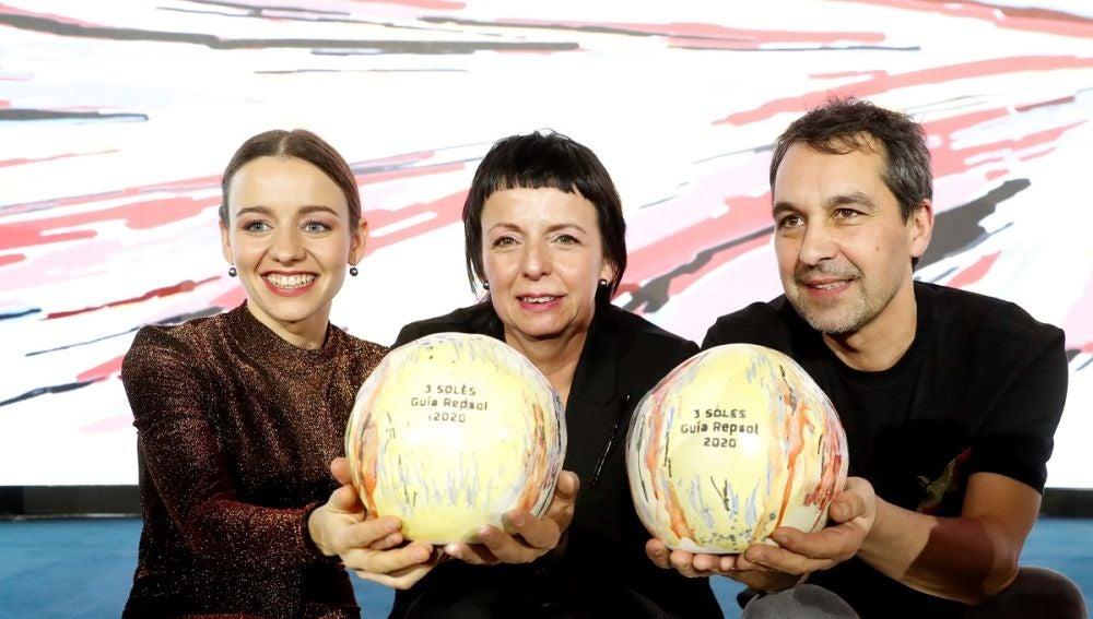 Javier Olleros, Fina Puigdevall y su hija Martina
