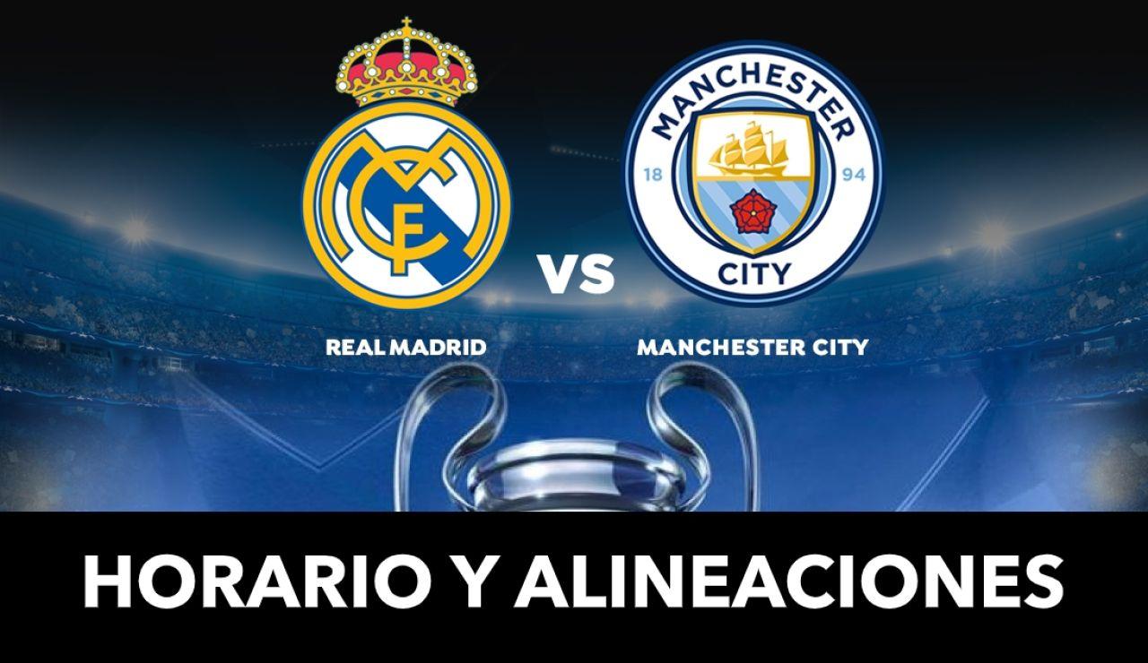 Real Madrid - Manchester City: Alineaciones y dónde ver el partido de Champions League en directo