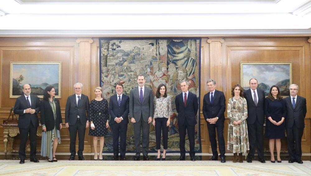 Los Reyes reciben al Consejo de Administración de Atresmedia