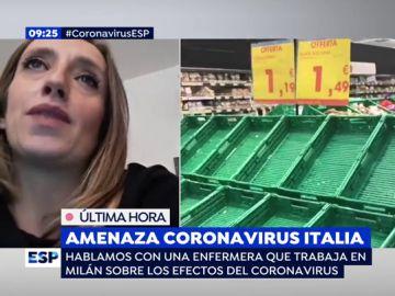 """Una enfermera de Milán: """"El pánico y la psicosis por el coronavirus ya se ha desatado aquí"""""""
