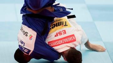 Nikoloz Sherazadishvili durante el último Mundial de Judo