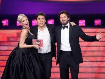 Rocío Madrid y Álex O'Dogherty ganan la novena gala de 'Tu cara me suena' en un final con mucho suspense