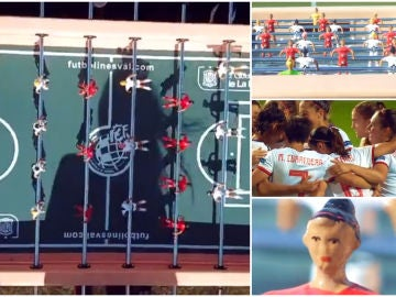 La RFEF presenta el primer futbolín de la selección española femenina