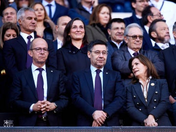 Josep Maria Bartomeu, durante un partido del Barça