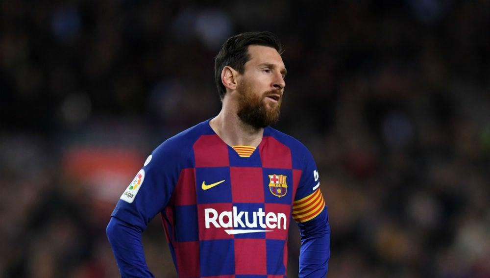 Lionel Messi, con el Barcelona