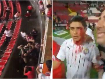 varios heridos en una terrible pelea multitudinaria entre ultras radicales