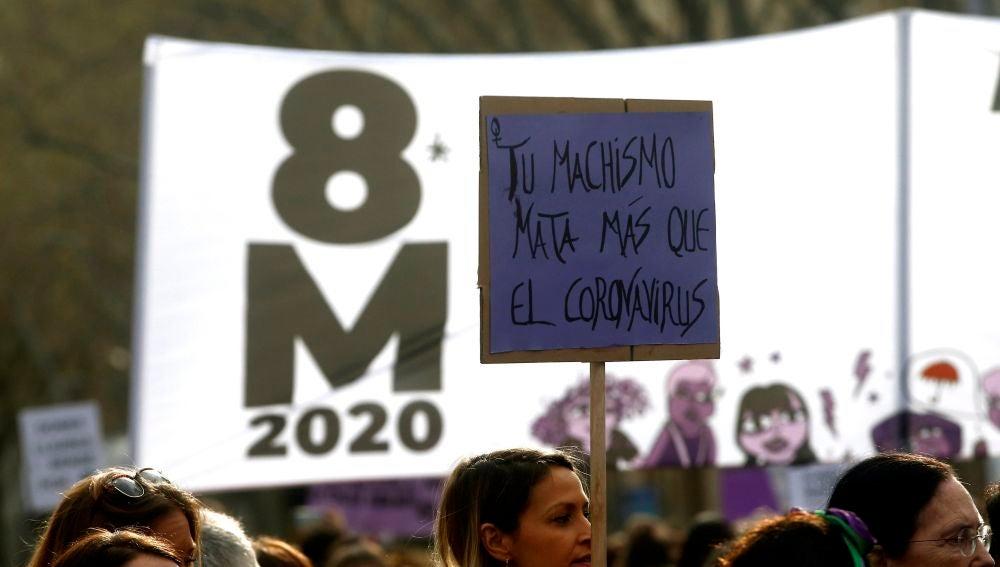 Pancarta manifestación del 8-M en Barcelona