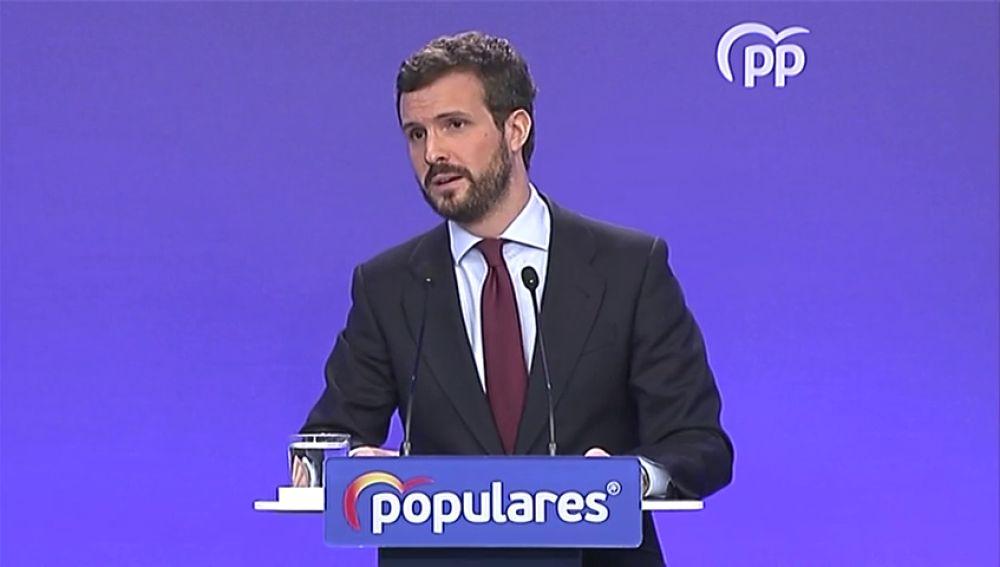 """Pablo Casado: """"Nos preocupa que el Gobierno vaya por detrás de los acontecimientos"""""""