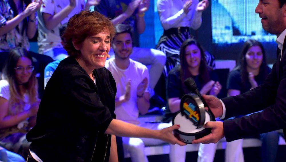 Anabel Alonso, merecida ganadora del segundo programa de 'Me Resbala'