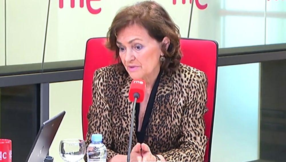 """Carmen Calvo reconoce que el coronavirus está haciendo """"daño"""" a la economía española"""