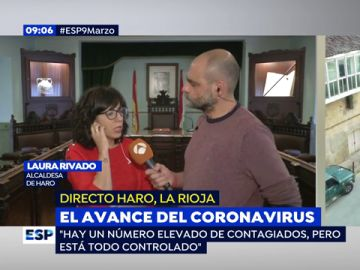 Avance del coronavirus.