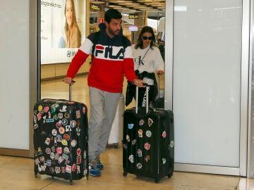 Miguel Torres y Paula Echevarría recién llegados a Madrid