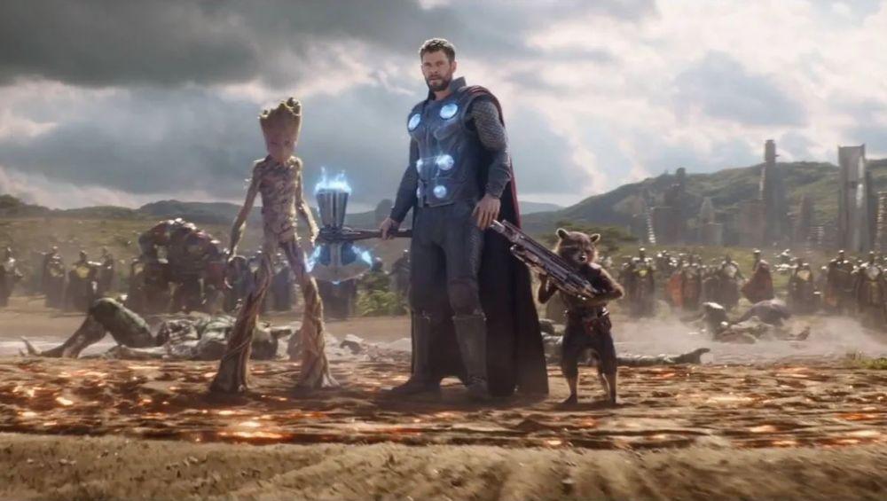 Thor y los Guardianes de la Galaxia en 'Vengadores: Infinity War'
