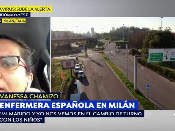 """Una enfermera española en Milán: """"Como la gente no se quede en casa tendrán que ver a quién atender por coronavirus"""""""