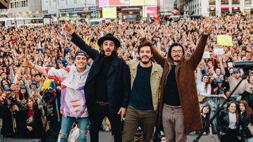 Morat en su concierto en la Plaza de Callao de Madrid