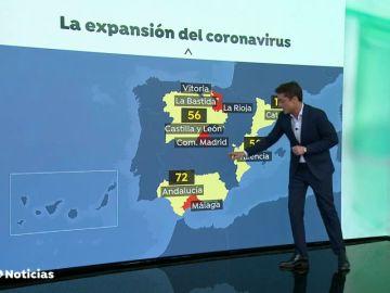 La mayoría de los casos positivos en Málaga por coronavirus se registran en Málaga