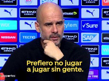 """Guardiola: """"Sin gente en los estadios prefiero no jugar"""""""