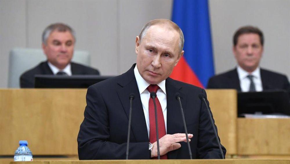 Putin consigue el apoyo de la Duma para poder seguir como Presidente de Rusia después de 2024
