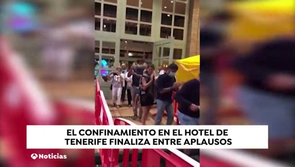 Acaba con aplausos la cuarentena en el hotel de Tenerife... que no se volverá a repetir