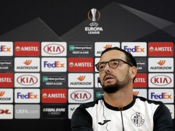 Bordalás, entrenador del Getafe, en rueda de prensa