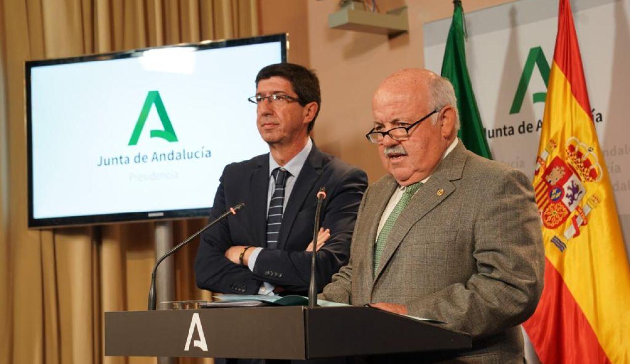 Comparecencia del vicepresidente de la Junta de Andalucía y el consejero de Salud