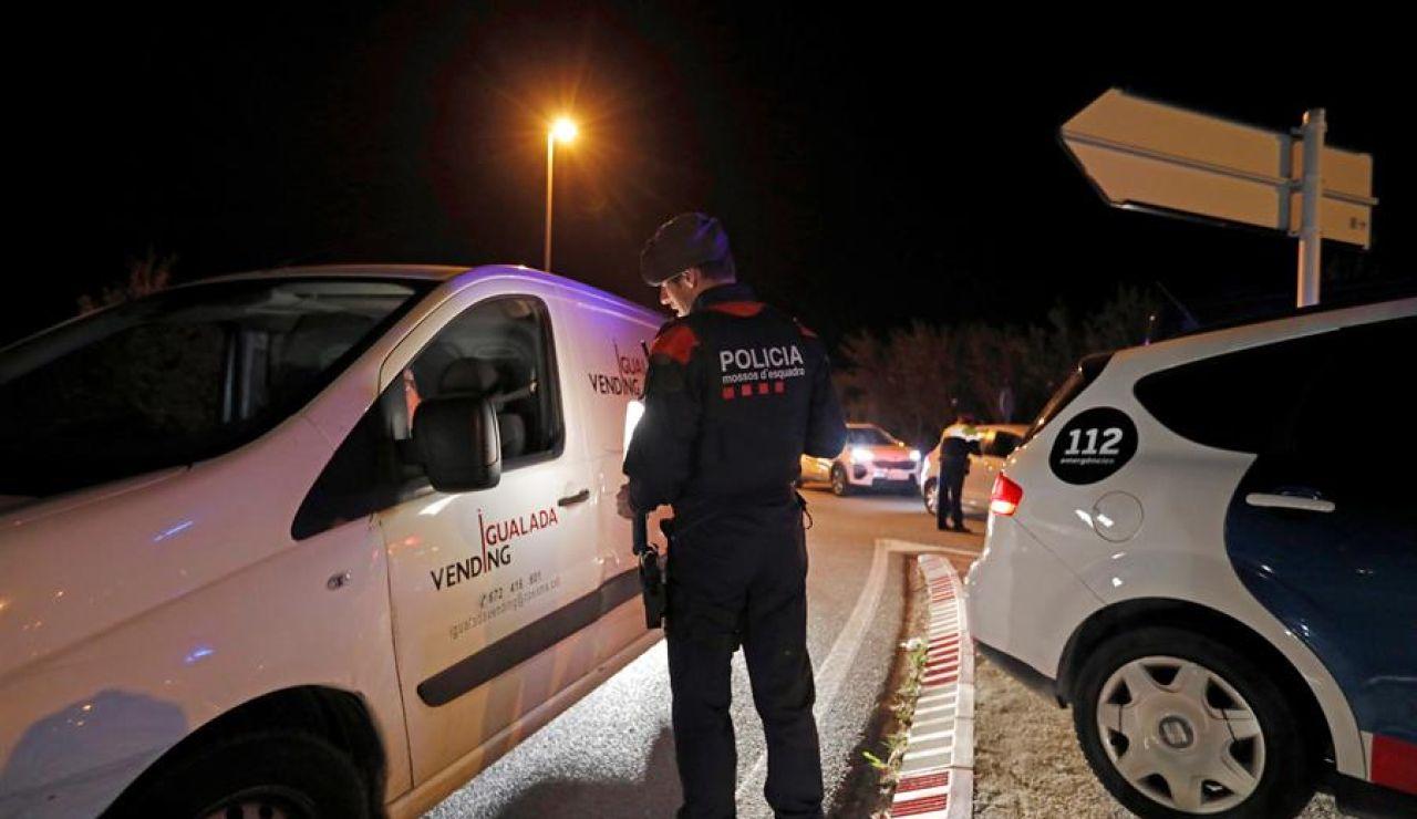 Los Mossos d'Esquadra controlan el acceso a Igualada.