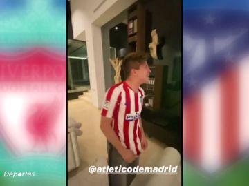 Locura en la casa de Simeone tras vencer al Liverpool en Champions