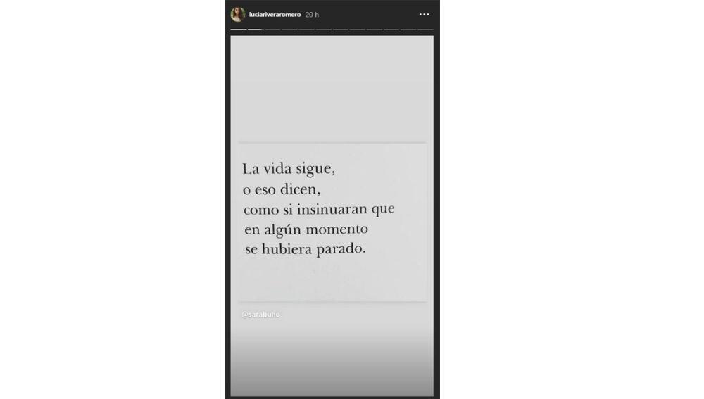 El mensaje que ha compartido Lucía Rivera