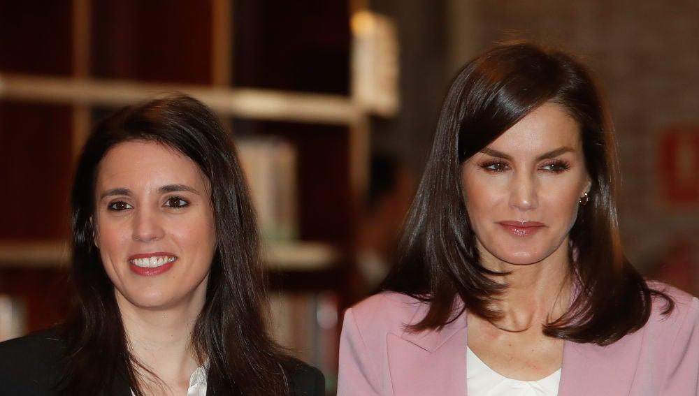 Irene Montero y  la reina Letizia durante su reunión el pasado 6 de marzo