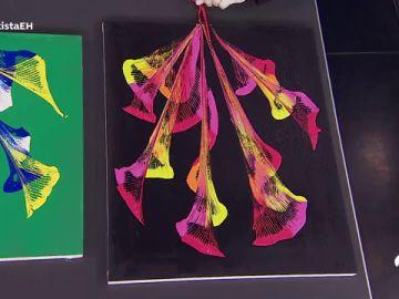 Arte científico para hacer en casa: cuadros preciosos con pintura y cadenas